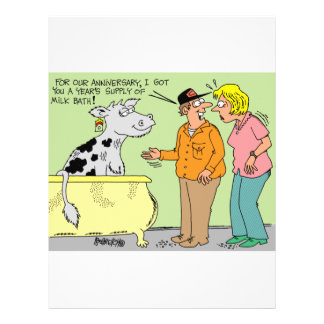 AGRICULTURAL FARMER HUSBAND / WIFE CARTOON HUMOR FLYER DESIGN
