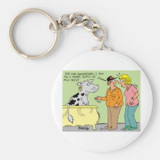 AGRICULTURAL FARMER HUSBAND / WIFE CARTOON HUMOR KEYCHAIN