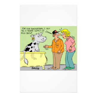 AGRICULTURAL FARMER HUSBAND / WIFE CARTOON HUMOR STATIONERY