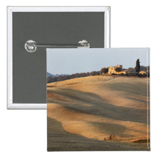 Agricultural field at sunset, Val d'Orcia, Tusca Buttons