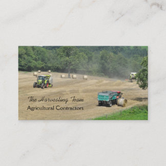 Agricultural harvesting contractor business card