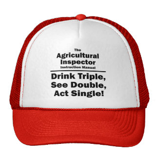 agricultural inspector trucker hat
