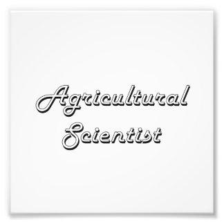 Agricultural Scientist Classic Job Design Photo Print