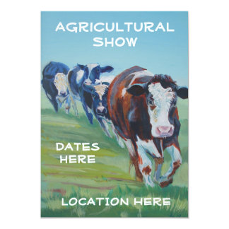 Agricultural Show Invitations 4 cows