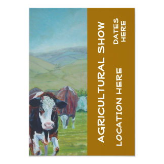 Agricultural Show Invitations cow painting