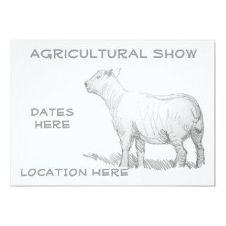 Agricultural Show Invitations lamb sheep sketch