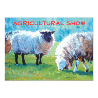 Agricultural Show Invitations Sheep