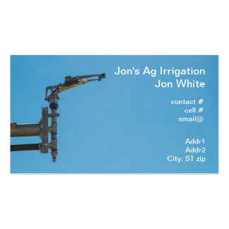Agricultural sprinkler Double-Sided standard business cards (Pack of 100)