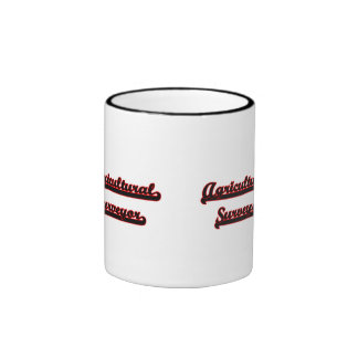 Agricultural Surveyor Classic Job Design Ringer Mug