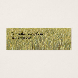 Agricultural wheatfield mini business card