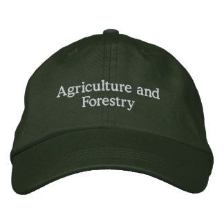 Agriculture and forestry embroidered baseball cap