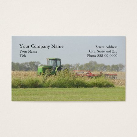 Tractor on a Farm Agriculture Business Cards