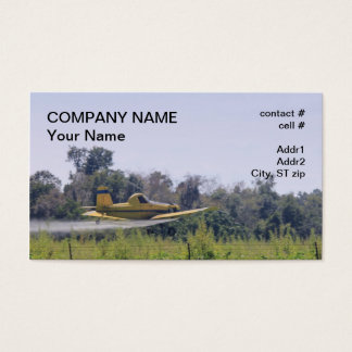 Agriculture plane spraying business card