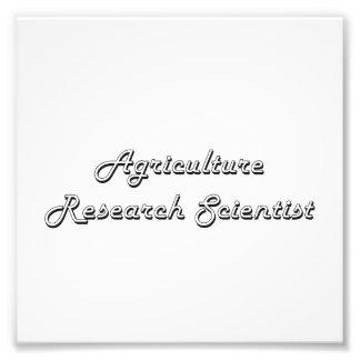 Agriculture Research Scientist Classic Job Design Photo Print