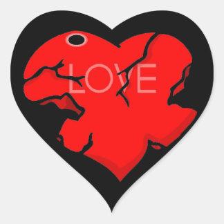 Agrietado + Corazón quebrado Etiqueta