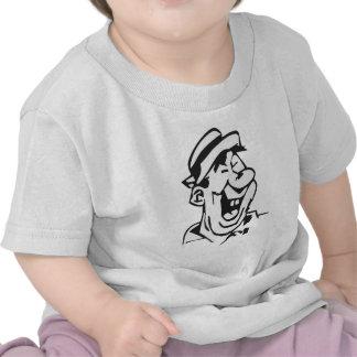 Agrietado para arriba camiseta