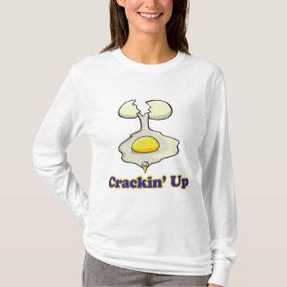 agrietar para arriba el huevo agrietado playera