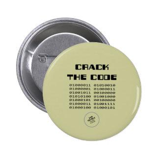 Agriete el botón del código pin
