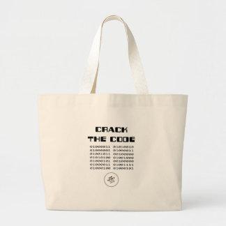 Agriete la bolsa de asas del código