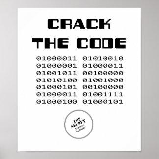 Agriete la impresión del código póster