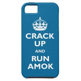 Agriétese para arriba y corra Amok iPhone 5 Carcasas