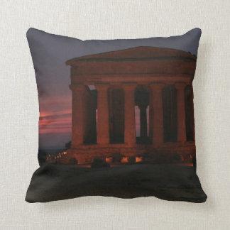 Agrigento Greek Temple Pillow