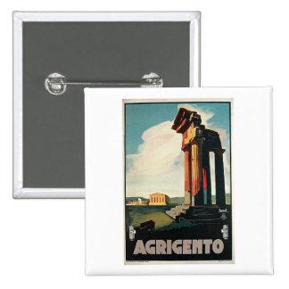 Agrigento Italy Vintage Travel Pin