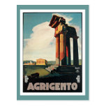 Agrigento Italy Vintage Travel Post Cards