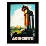Agrigento Vintage Travel Advertisement Post Cards