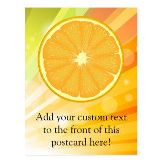 Agrios anaranjados de la rebanada tarjetas postales