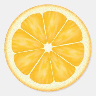 Agrios anaranjados pegatina redonda