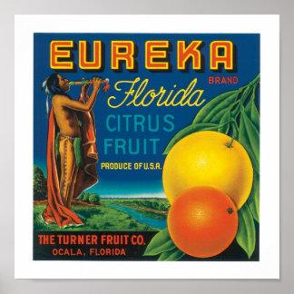 Agrios de la Florida de la marca de Eureka Poster