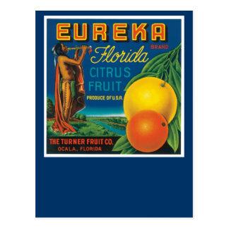 Agrios de la Florida de la marca de Eureka Tarjeta Postal