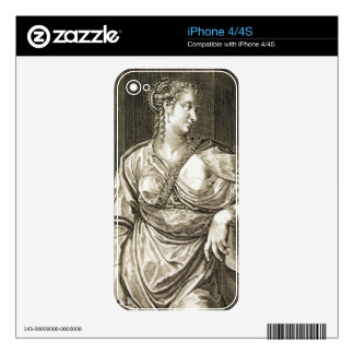 Agrippina wife of Tiberius (engraving) iPhone 4 Decals