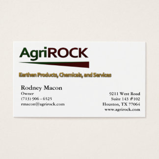 AgriRock Business Card
