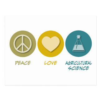 Agronomía del amor de la paz tarjetas postales