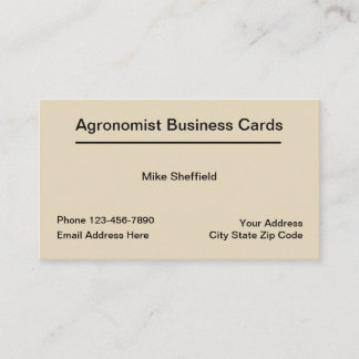 Agronomist Services Businesscards Business Card