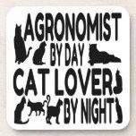 Agrónomo del amante del gato posavasos de bebida