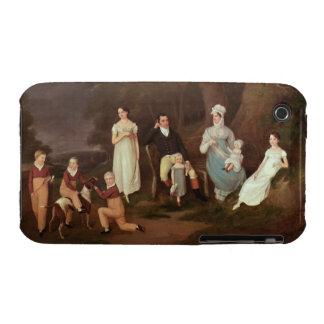 Agrupe el retrato de un escudero, de su esposa y carcasa para iPhone 3