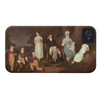 Agrupe el retrato de un escudero, de su esposa y funda para iPhone 4
