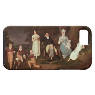 Agrupe el retrato de un escudero, de su esposa y funda para iPhone SE/5/5s