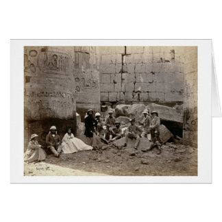 Agrupe la fotografía en el Pasillo de columnas, Ka Tarjeta De Felicitación