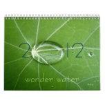 agua 2012 de la maravilla calendarios de pared