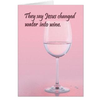 Agua a wine tarjeta de cumpleaños
