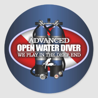 Agua abierta avanzada (ST) Pegatina Redonda