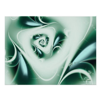 Agua Abstract Art Poster
