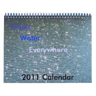 Agua, agua, por todas partes calendario de pared