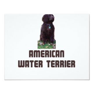 Agua americana Terrier Invitación 10,8 X 13,9 Cm