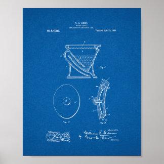 Agua-armario - patente del retrete - modelo póster