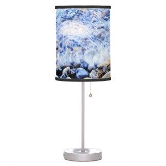 agua azul bonita de la lámpara